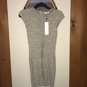 New with tags Parker silver bodycon dress